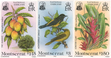 Montserrat Stamps: National Emblems